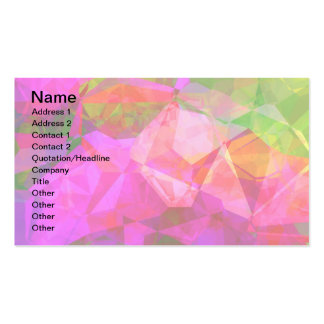 Abstract Polygons 5 Business Card Templates