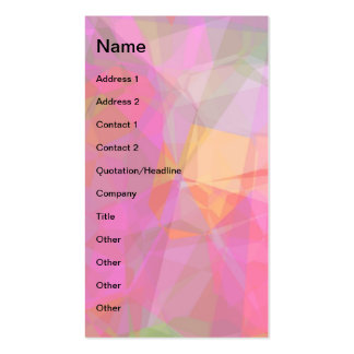Abstract Polygons 6 Business Card Templates