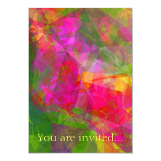Abstract Polygons 6 Personalized Invitations