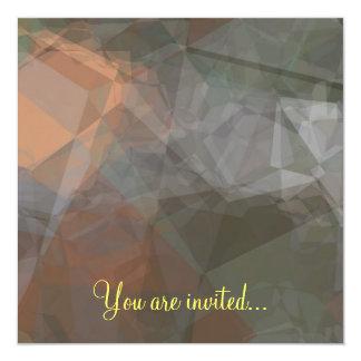 Abstract Polygons 71 Invitation