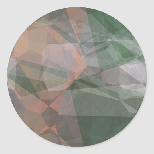 Abstract Polygons 73 Classic Round Sticker