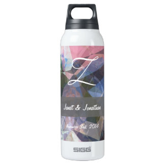 Abstract Polygons 86 Customizable Monogram 16 Oz Insulated SIGG Thermos Water Bottle