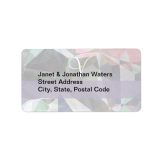 Abstract Polygons 89 Customizable Monogram Address Label