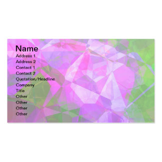 Abstract Polygons 8 Business Card Template