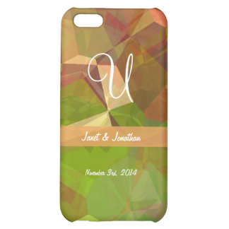 Abstract Polygons 98 Customizable Monogram iPhone 5C Cases
