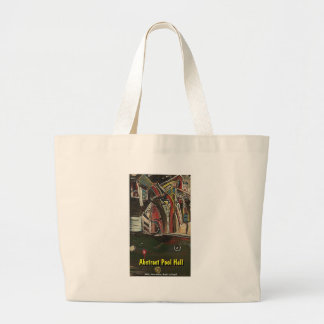 abstract pool hall canvas bag