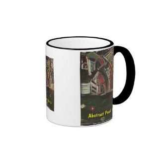abstract pool hall coffee mug