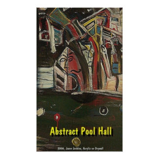 ABSTRACT POOL HALL POSTER