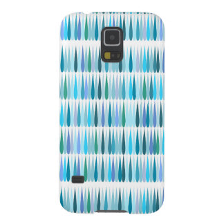 Abstract Pop art blue drops Case For Galaxy S5