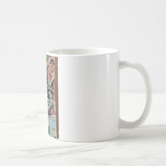 Abstract pop art katie cat coffee mug