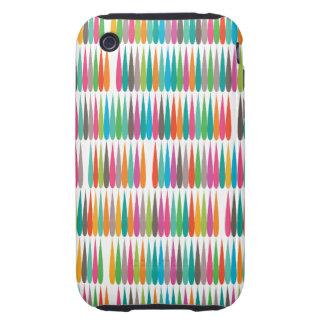 Abstract Pop art multicolor drops Tough iPhone 3 Case