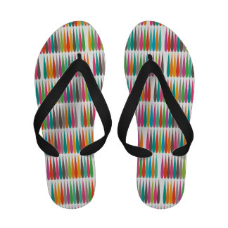 Abstract Pop art multicolor drops Sandals