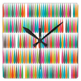 Abstract Pop art multicolor drops Square Wall Clock