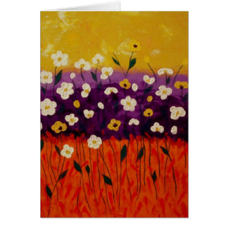 """Abstract Poppies 2"" by Linda Powell~Note Card"