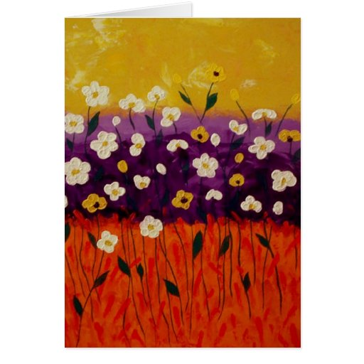 """""""Abstract Poppies 2"""" by Linda Powell~Note Card"""