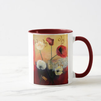 Abstract Poppies mug