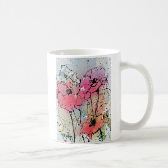 Abstract Poppies Watercolor Art Mug