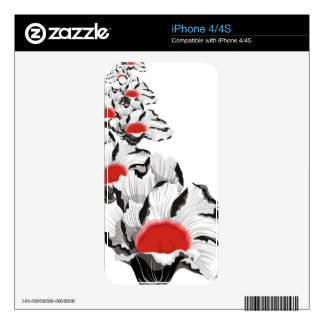Abstract Poppies Zazzle Skin Skin For iPhone 4S