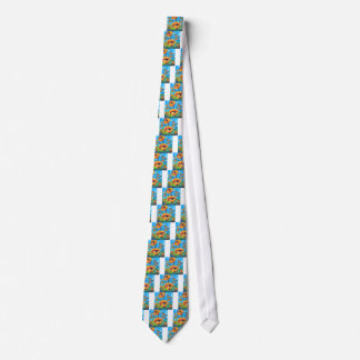 Abstract Poppy Art, Yellow Poppy Painting Tie