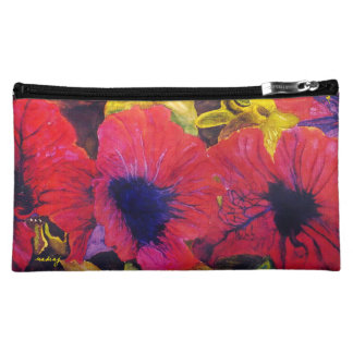 Abstract Poppy Flowers Bag Cosmetic Bags