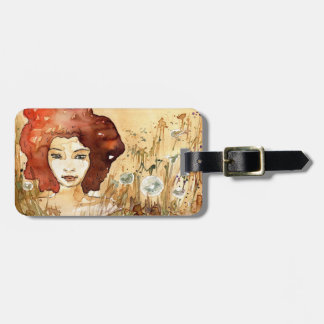 Abstract portrait 3 bag tag