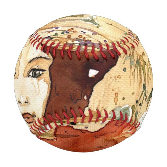 Abstract portrait 3 baseball
