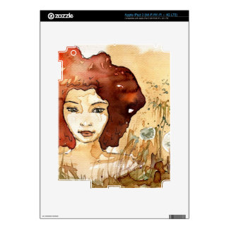 Abstract portrait 3 decals for iPad 3