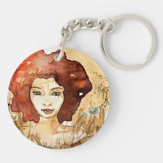 Abstract portrait 3 keychain