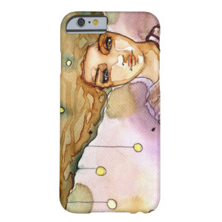 Abstract portrait and pretty woman barely there iPhone 6 case