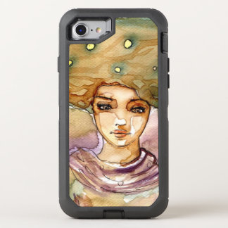 Abstract portrait and pretty woman OtterBox defender iPhone 8/7 case