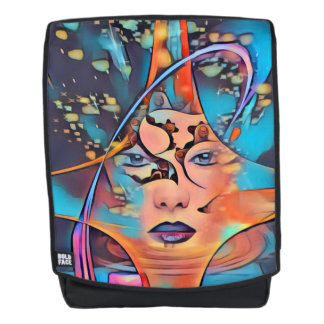 Abstract Portrait of a Woman Backpack