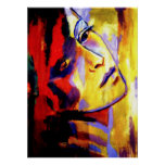 Abstract Portrait of a woman Painting - Art Prints Posters