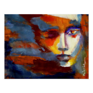Abstract Portrait of a woman Painting - Art Prints Poster
