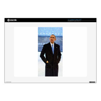 Abstract Portrait of President Barack Obama 10 Laptop Decal