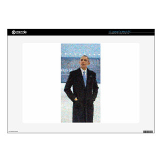 """Abstract Portrait of President Barack Obama 10a.jp Decals For 15"""" Laptops"""
