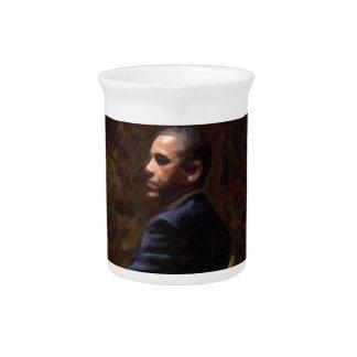 Abstract Portrait of President Barack Obama 13 Pitcher