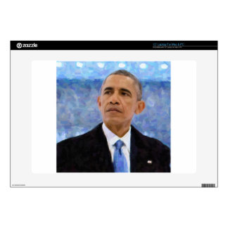 """Abstract Portrait of President Barack Obama 30x30 15"""" Laptop Decal"""