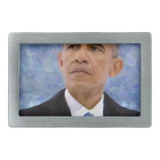 Abstract Portrait of President Barack Obama 30x30 Belt Buckle