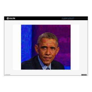 Abstract Portrait of President Barack Obama 7 Laptop Skin