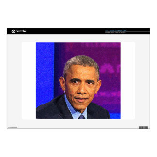 """Abstract Portrait of President Barack Obama 8 15"""" Laptop Decal"""