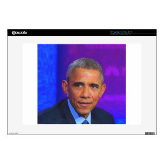 """Abstract Portrait of President Barack Obama 8 a.jp 15"""" Laptop Decal"""
