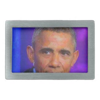 Abstract Portrait of President Barack Obama 8 a.jp Belt Buckle
