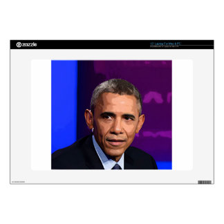 """Abstract Portrait of President Barack Obama 9 15"""" Laptop Decals"""