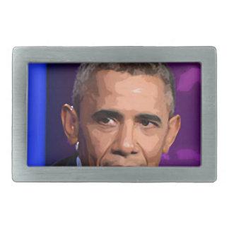Abstract Portrait of President Barack Obama 9 Belt Buckle