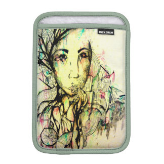 Abstract portrait zen meditation tranquil art sleeve for iPad mini