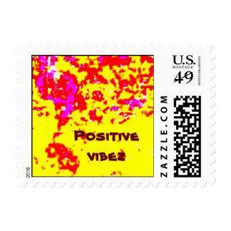 abstract/  Positive vibez Stamps