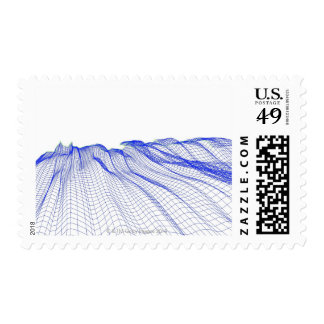 Abstract Postage Stamp
