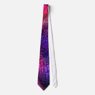 Abstract Postage Stamp Neck Tie