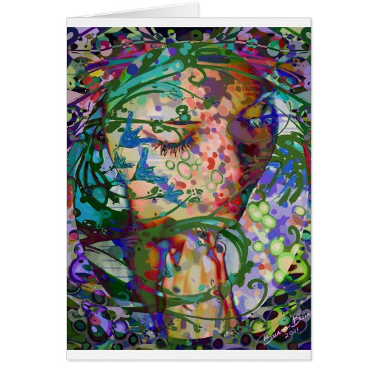 Abstract Praying Woman Card