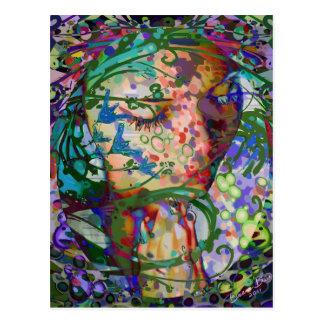 Abstract Praying Woman Postcard